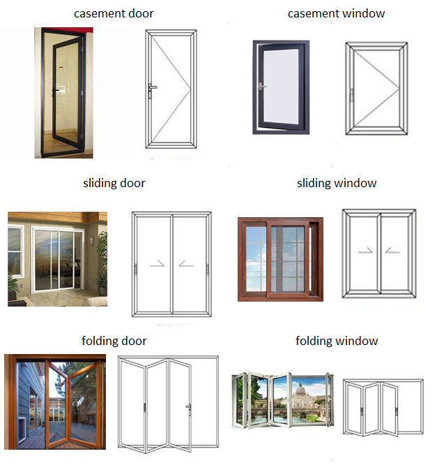 Folding Commercial Aluminium Doors Frost Glass Aluminum Accordion Door