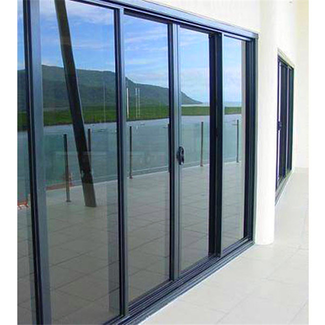As2047 Aluminum Glass Sliding Door With 85 Series Frame And Frosted
