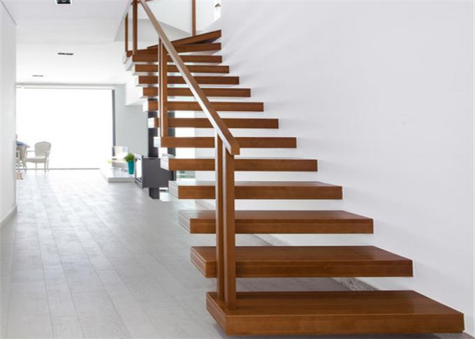 Minimalist Modern Wooden Staircase Designs Floating Stairs With