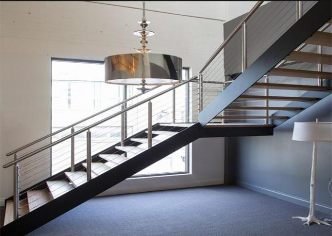 Modern  Residential Straight Flight Staircase / U Shaped Staircase Design