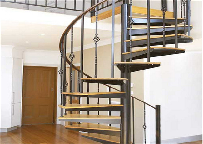 Laminated Glass Tread Custom Spiral Staircase , Stainless Steel Spiral Staircase