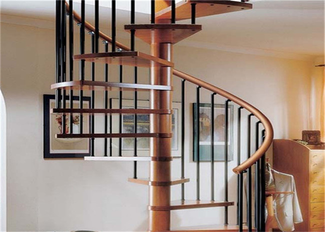 Prima Home Modular Spiral Staircase With Laminated Tempered Glass Tread And Post Railing