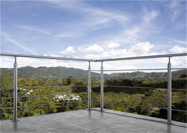 Cable Stainless Steel Guardrail , Vertical Stainless Steel Wire Balustrade Customised