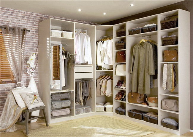 U Shaped Closet Organizers With Soft Close Drawers , modern walk in wardrobe shoe storage