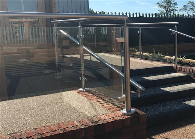 Easy Install Stainless Steel Glass Railing For Outdoor And Seaside Project