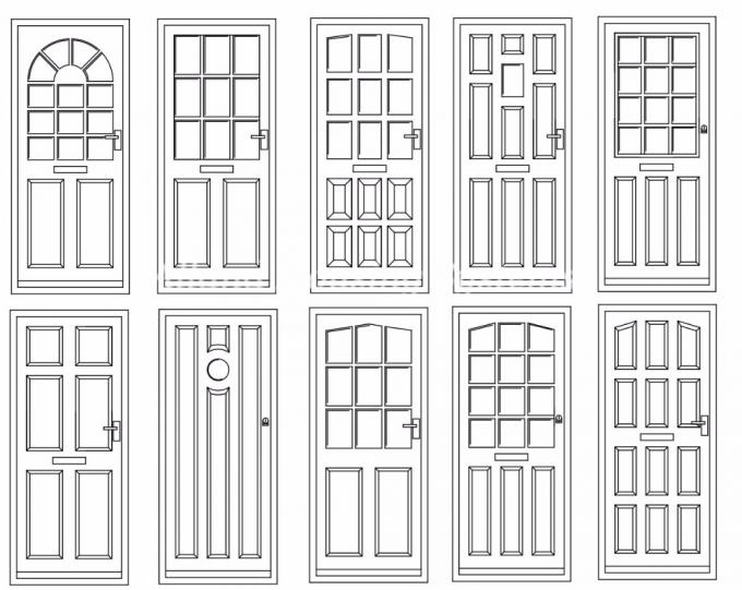 Modern Style Interior Modern Composite Front Doors Sound Proof Swing Open