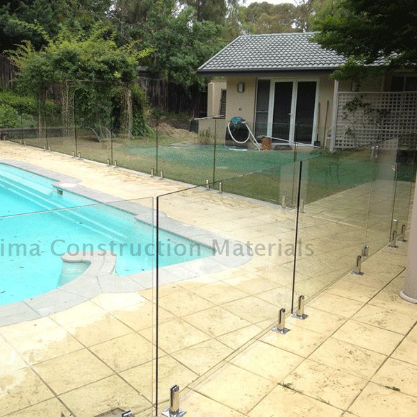 Mirror / Satin Finish Swimming Pool Glass Fence Stainless Steel Spigot Railing