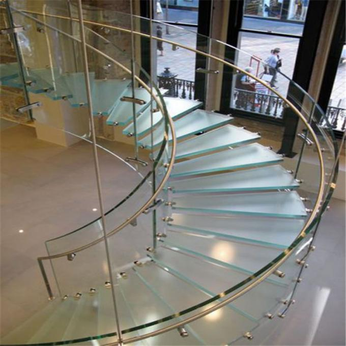 Residential Stainless Steel Metal Spiral Staircase Indoor Usage Easy Assemblying
