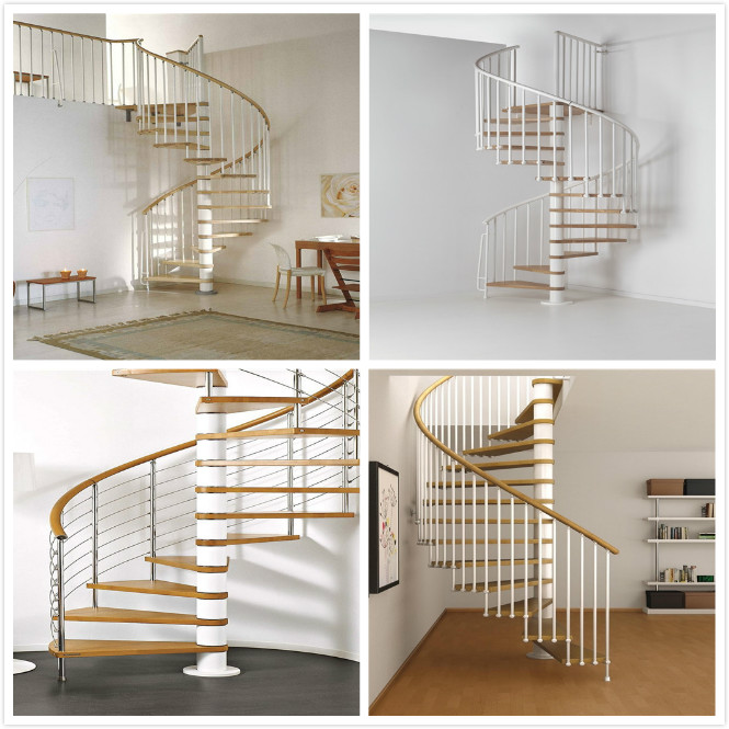 Apartment Interior Wrought Iron Spiral Staircase House / Office Application