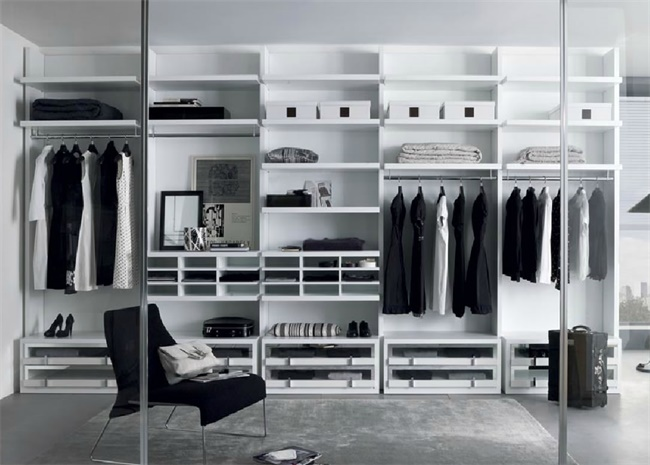 Modern Design Walk In Closet Wardrobe Plywood MDF Material Custom House Furniture