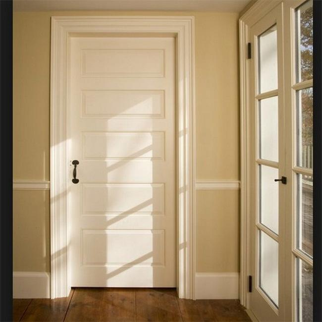 Elegant Modern Solid Wood Entrance Doors , Solid Wood Interior Doors With Glass