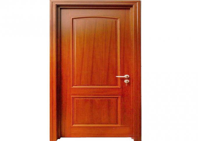 Laminate Coated Mdf Wooden Composite Front Doors Flush Interior PVC Swing Open Style