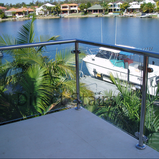 Modern Stainless Steel Glass Balustrade Frameless Railing Post Easy DIY Install