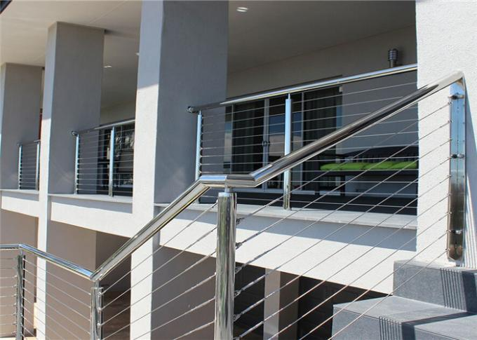 Outdoor / Indoor Stainless Steel Cable Railing System For Railing Handrail