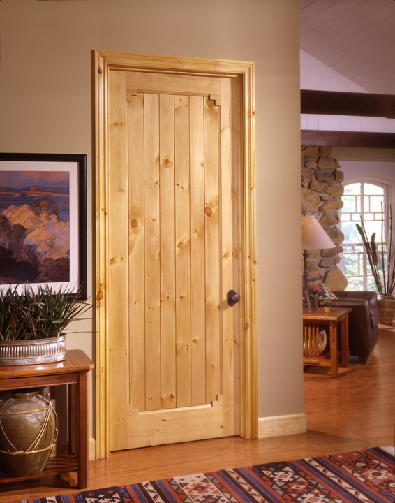 Customized Inside Solid Wood Doors Swing Open Style Durable Hardware Long Lifespan