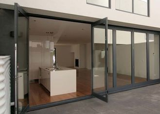China Double Glazing Tempered Glass Door Aluminium Frame , Restaurant Swing Doors Commercial supplier