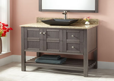 China Small Prima Vanity Lacquer Bathroom Vanity Units Traditional Design supplier