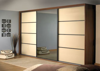 China PRIMA Home Bedroom Closets And Wardrobes Hinged Door With Mirror , 600mm Deep supplier