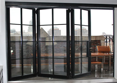 China Folding Commercial Aluminium Doors Frost Glass Aluminum Accordion Door supplier