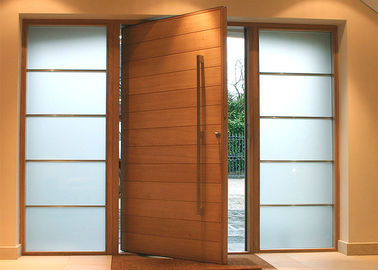 China Solid Wood Modern Pivot Front Doors supplier