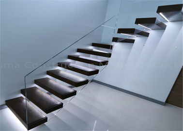 China Contemporary Metal Floating Stairs , Wooden Staircase Designs For Homes supplier