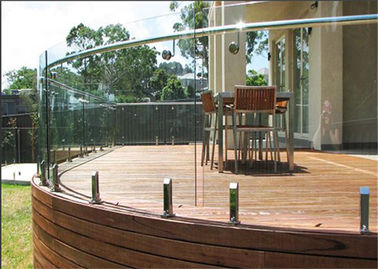 China Australia Standard Frameless Glass Clamp Railing System Flooring Mounted supplier