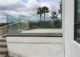 China Terrace Frameless Glass Balustrade System With Aluminum U Base Channel supplier