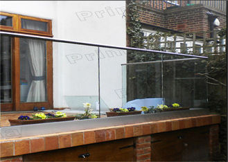 China Outdoor Decking Frameless Glass Railing DIY Installation CE Certificated supplier