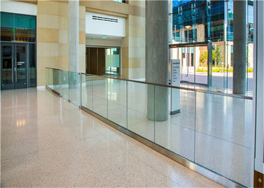 China Easy Installation Frameless Glass Deck Railing With Base Channel Fixing Details supplier