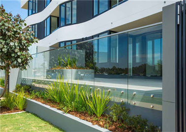 China Residential Frameless Glass Railing , Frameless Glass Balcony Balustrade Systems supplier