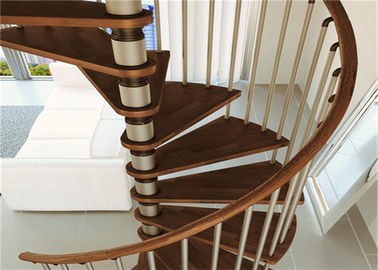 China Prima Home Modular Spiral Staircase With Laminated Tempered Glass Tread And Post Railing supplier