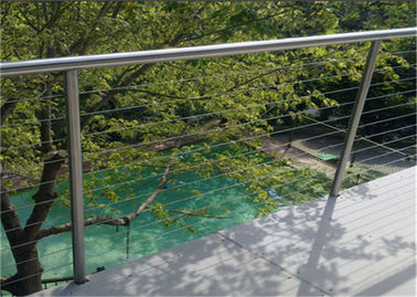 China Professional Diy Stainless Steel Wire Rope Balustrade For Sports Centers supplier