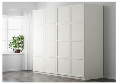 China Free Standing Hinged Door Wardrobes Bedroom Shutter Door Wardrobe For Family supplier