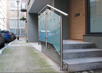 China Side Mount Stainless Steel Glass Railing Systems With 10mm / 12mm Tempered Glass supplier