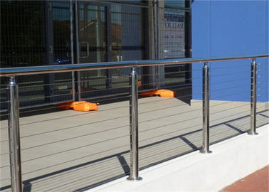 China 4mm Ss Wire Building Railing , Stainless Steel Cable Balustrade Polished Surface Finish supplier