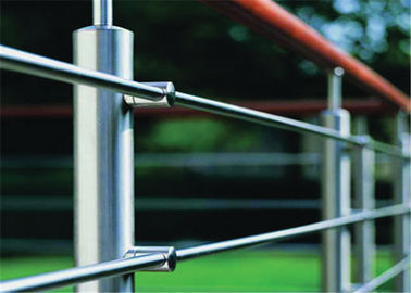 China Prima Building Stainless Steel Railing System Rod Bar Holder For Large Modern Hotels supplier