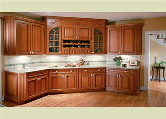 China Beautiful Solid Wood Kitchen Cabinets Customized Classic Design From Foshan supplier