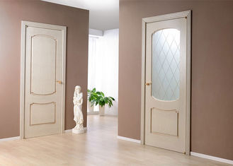 China MDF Painting Surface Single Swing Door , Customized Size Interior Wood Doors supplier