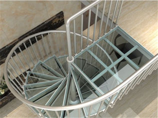 China Aluminum Frame Glass Custom Spiral Staircase Flexible Small Spave Design supplier