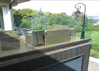 China U Channel Aluminum Deck Railing Systems Tempered Glass Guardrail For Residential Fence supplier