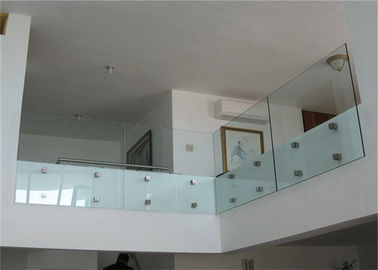 China Frameless Standoff Stainless Steel Glass Railing Baluster Constrcution Usage supplier