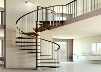 China Apartment Interior Wrought Iron Spiral Staircase House / Office Application supplier