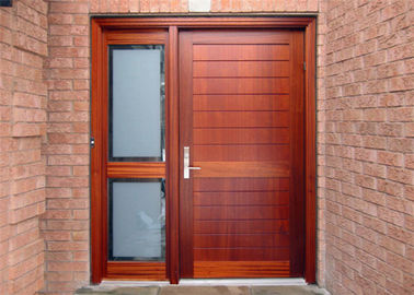 China Elegant Modern Solid Wood Entrance Doors , Solid Wood Interior Doors With Glass supplier