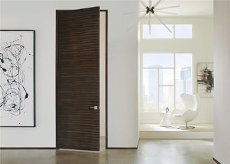 China Laminate Coated Mdf Wooden Composite Front Doors Flush Interior PVC Swing Open Style supplier