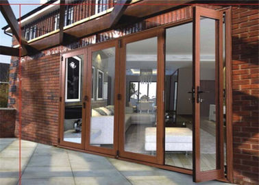China Soundproof Commercial Aluminium Doors , Interior Aluminium Sliding Patio Doors supplier