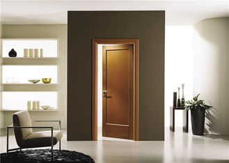 China House Model Open Inside Swing Solid Wood Doors Customized Color With Knobs / Locks supplier