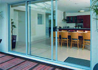 China AS2047 Aluminum Glass Sliding Door With 85 Series Aluminum Frame And Frosted Glass factory