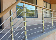 China Wood / PVC Handrail Stainless Steel Railing Investment Casting For Office Buildings factory