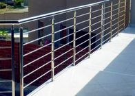 China Decking Metal Balustrade Stainless Steel Railing , 316 Stainless Steel Stair Railing factory
