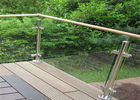 China Durable Glass Balustrade Stainless Steel Handrails , Tempered Glass Railing Systems company